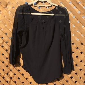 EUC sheer Guess by Marciano blouse